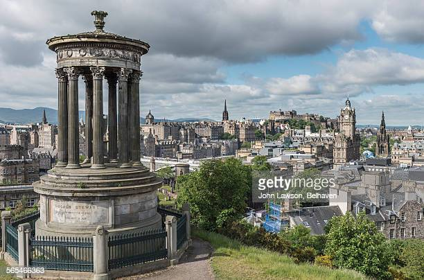 Edinburgh skyline in summer