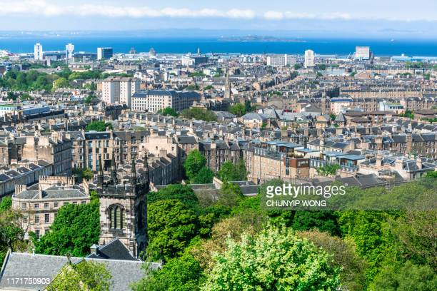 edinburgh skyline - scotland stock-fotos und bilder