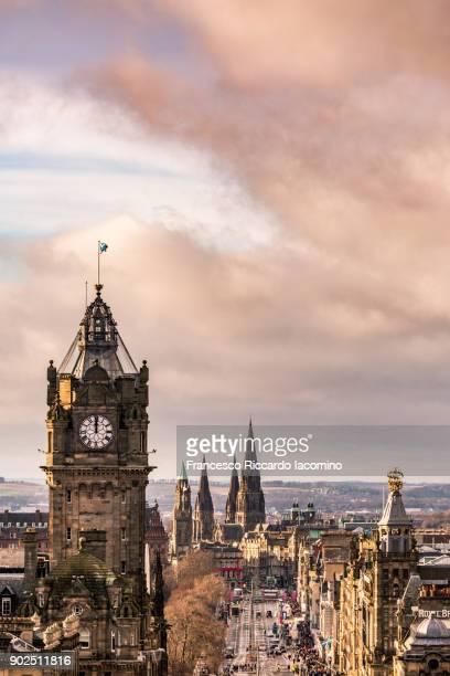 edinburgh skyline - edinburgh scotland stock pictures, royalty-free photos & images