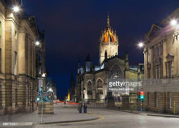 edinburgh - st. giles and the royal mile - st. giles cathedral stock pictures, royalty-free photos & images