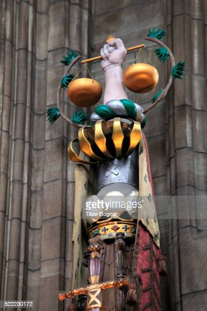 edinburgh, st giles' cathedral, thistle chapel - st. giles cathedral stock pictures, royalty-free photos & images