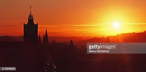 Edinburgh - Sunset from Calton Hill - Film