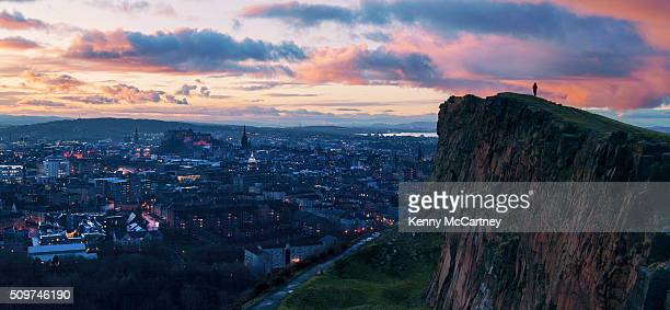 Edinburgh - Sunset from Salisbury Crags
