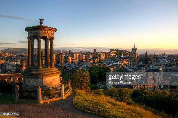 edinburgh sunset - カールトンヒル ストックフォトと画像