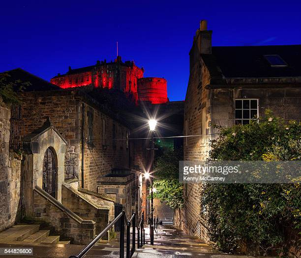 Edinburgh - The Castle from the Vennel
