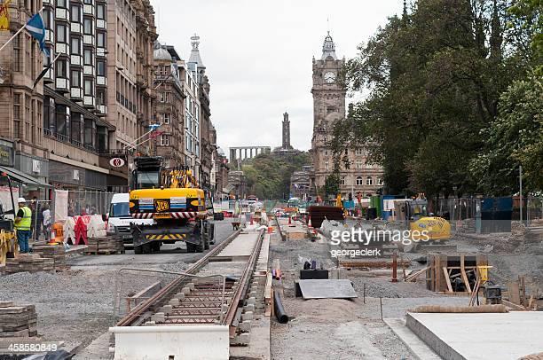 Edinburgh Tram Works on Princes Street
