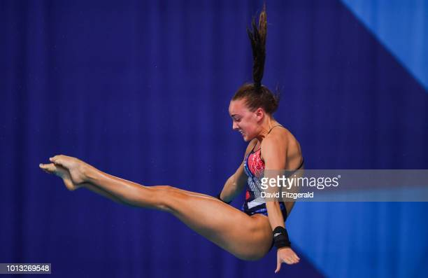 Edinburgh United Kingdom 8 August 2018 Lois Toulson of Great Britain competing in the Women's 10m Platform Final during day seven of the 2018...