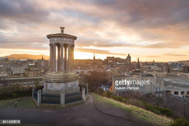 Edinburgh view from Calton Hill, Scotland, UK
