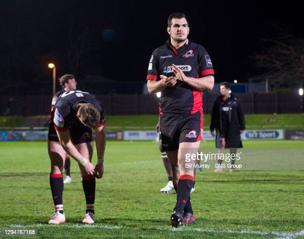 Edinburgh's players trudge off the field at full time