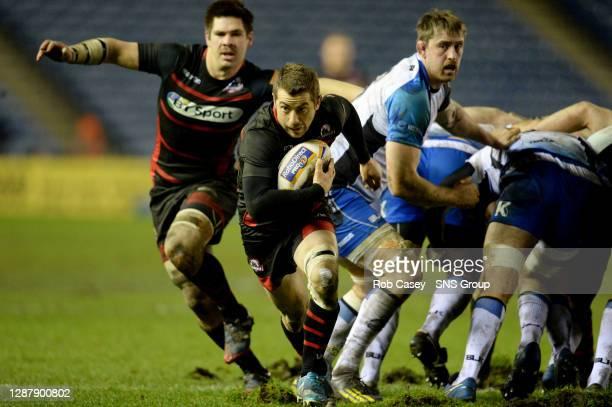 Greig Laidlaw makes a run for Edinburgh.