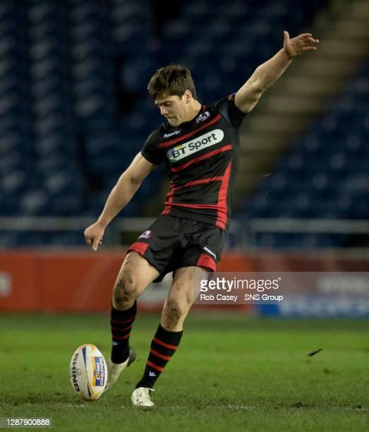 Harry Leonard in action for Edinburgh.