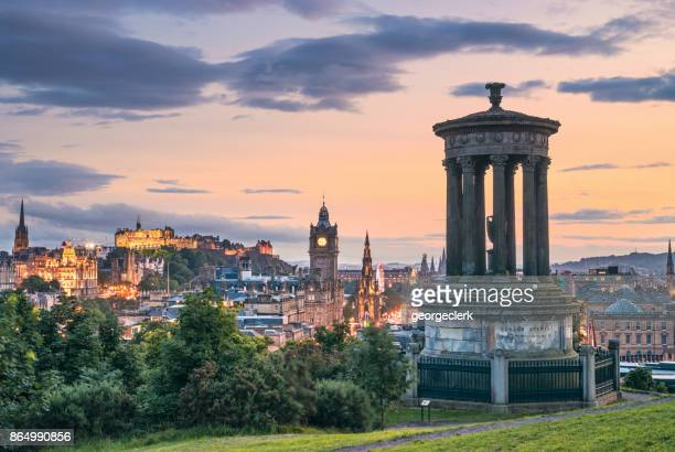 Edinburgh's historic skyline at Dusk - Calton Hill viewpoint