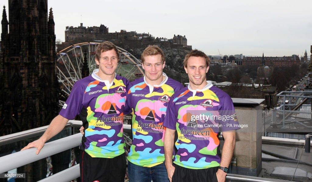 Rugby Union - Edinburgh's 1872 Cup Kit Launch - Aberdeen Asset Management : News Photo