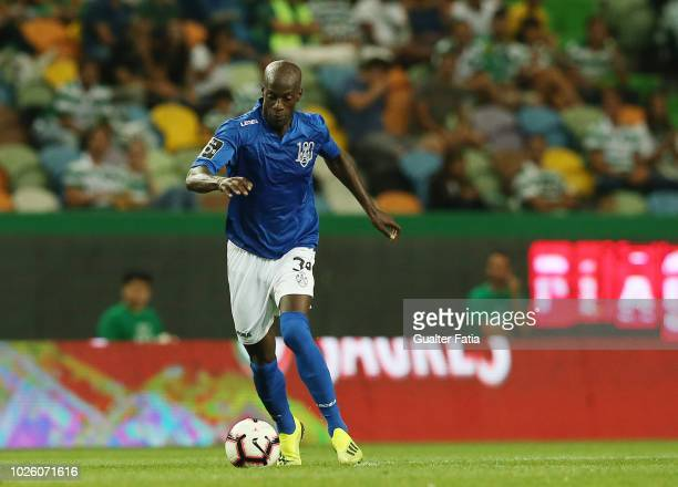 Edinho of CD Feirense in action during the Liga NOS match between Sporting CP and CD Feirense at Estadio Jose Alvalade on September 1 2018 in Lisbon...
