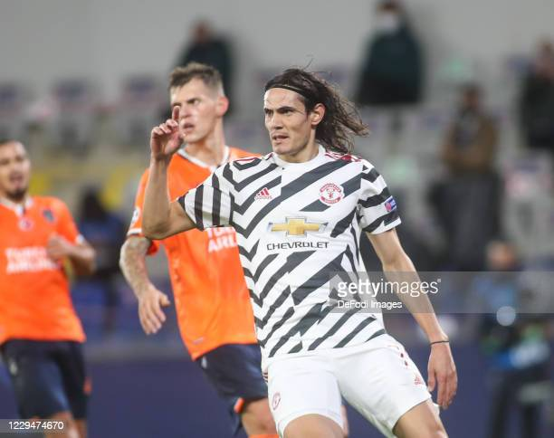 Edinson Cavani of Manchester United looks on during the UEFA Champions League Group H stage match between Istanbul Basaksehir and Manchester United...