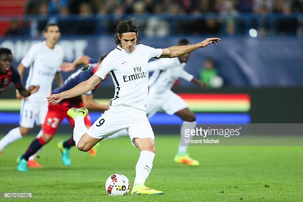 Edinson Cavani of Paris Saint Germain during the Ligue 1 match between SM Caen and Paris Saint Germain at Stade Michel D'Ornano on September 16 2016...