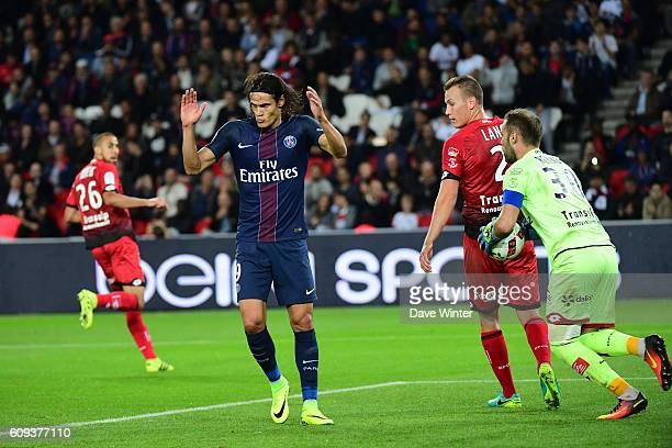 Edinson Cavani of PSG during the French Ligue 1 game between Paris SaintGermain and Dijon FCO at Parc des Princes on September 21 2016 in Paris France