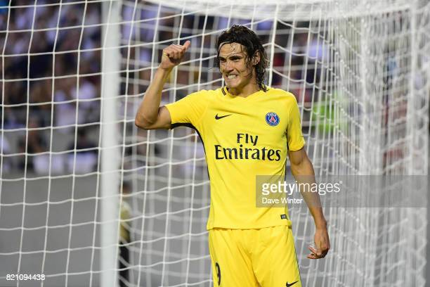 Edinson Cavani of PSG during the International Champions Cup match between Paris Saint Germain and Tottenham Hotspur on July 22 2017 in Orlando...