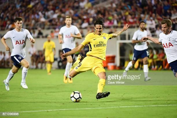 Edinson Cavani of PSG during the International Champions Cup match between Paris Saint Germain and Tottenham Hotspur on July 22 2017 in Orlando...