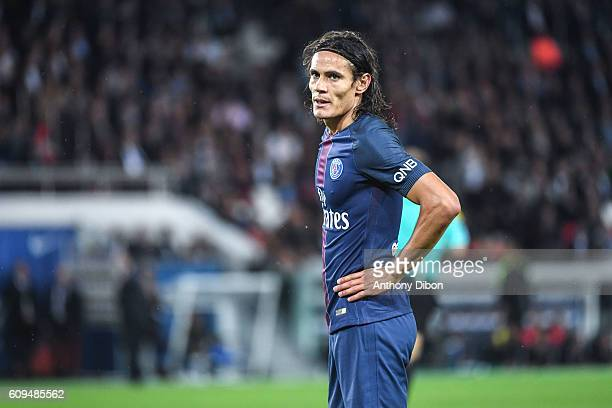 Edinson Cavani of PSG looks dejected during the French Ligue 1 game between Paris SaintGermain and Dijon FCO at Parc des Princes on September 21 2016...