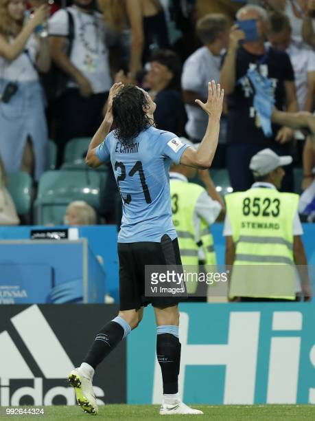 Edinson Cavani of Uruguay during the 2018 FIFA World Cup Russia round of 16 match between Uruguay and at the Fisht Stadium on June 30 2018 in Sochi...