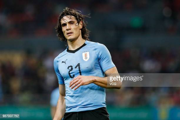 Edinson Cavani of Uruguay in action during the 2018 China Cup International Football Championship match between Uruguay and Czech Republic at Guangxi...