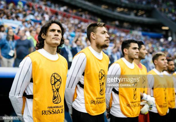 Edinson Cavani of Uruguay is seen during the 2018 FIFA World Cup Russia Quarter Final match between Winner Game 49 and Winner Game 50 at Nizhny...