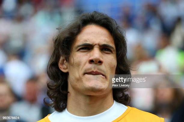 Edinson Cavani of Uruguay looks on prior to the 2018 FIFA World Cup Russia Quarter Final match between Uruguay and France at Nizhny Novgorod Stadium...