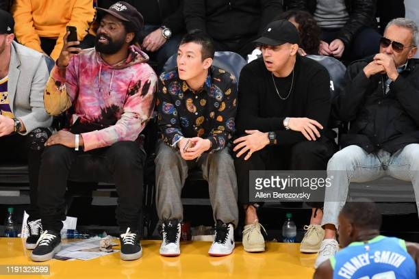 Edison Chen attends a basketball game between the Los Angeles Lakers and the Dallas Mavericks at Staples Center on December 01 2019 in Los Angeles...