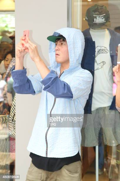 Edison Chen attends the opening ceremony of Juice on Thursday June 192014 in Hong KongChina