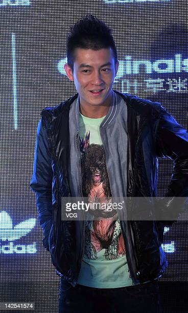 Edison Chen poses as he attends Adidas commercial event on April 6 2012 in Beijing China