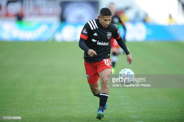 Edison Flores of D.C. United during a game between D.C. United and Colorado Rapids. The Colorado Rapids defeated D.C. Untied 2-1 during their Major...