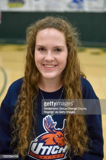 Edison High School letter of intent ceremony in Huntington Beach on Wednesday, Apr 11, 2018. Savannah Gutierrez will play ice hockey for Utica...