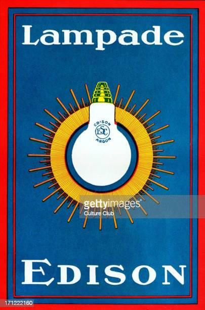 T A Edison Italian advertisement for lightbulb Lampade1920s US inventor engineer and manufacturer 18471931 Developed phonograph