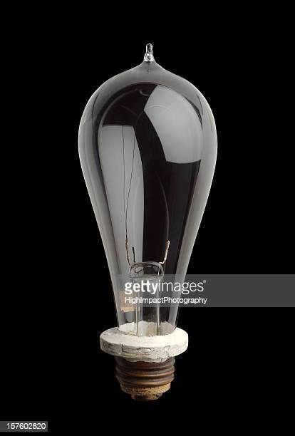 edison light bulb - thomas edison stock pictures, royalty-free photos & images