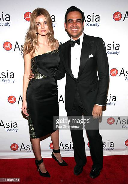Edita Vilkeviciute and Bibhu Mohapatra attend the 2012 Asia Society Dinner and Dance gala at The Plaza Hotel on March 19 2012 in New York City