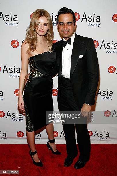 Edita Vilkeviciute and Bibhu Mohapatra attend the 2012 Asia Society Dinner and Dance gala at The Plaza Hotel on March 19, 2012 in New York City.