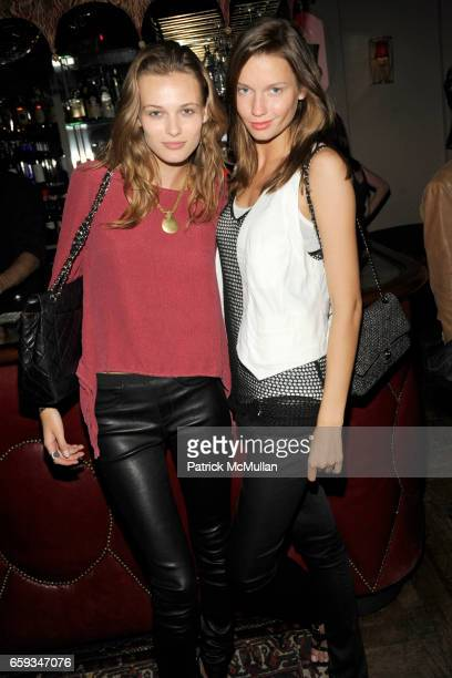 Edita Vilkeviciute and Laura Blokhina attend Sundance Channel and Full Frontal Fashion premier of 'The Day Before' with Proenza Schouler at Norwood...