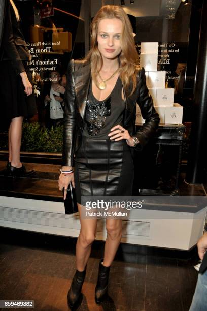 Edita Vilkeviciute attends BLACK FLEECE by BROOKS BROTHERS for FASHION'S NIGHT OUT at 351 Bleecker Street on September 10 2009 in New York
