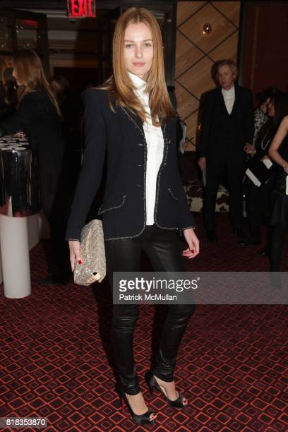 Edita Vilkeviciute attends CHANEL DINNER IN HONOR OF VANESSA PARADIS FOR ROUGE COCO at the Mark Hotel on February 9 2010 in New York City