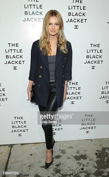 Edita Vilkeviciute attends The Little Black Jacket CHANEL's Classic Revisited By Karl Lagerfeld and Carine Roitfeld New York Exhibition Celebration...