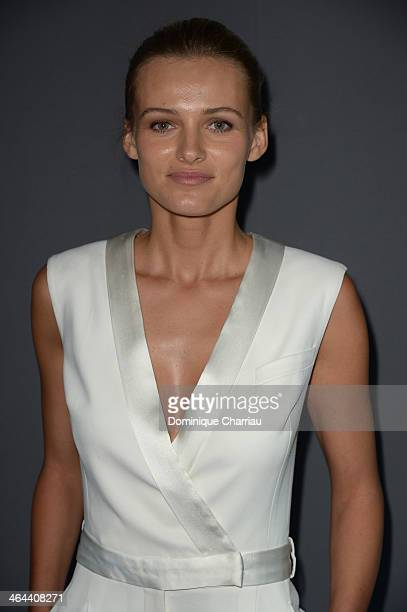 Edita Vilkeviciute attends the ViktorRolf show as part of Paris Fashion Week Haute Couture Spring/Summer 2014 on January 22 2014 in Paris France