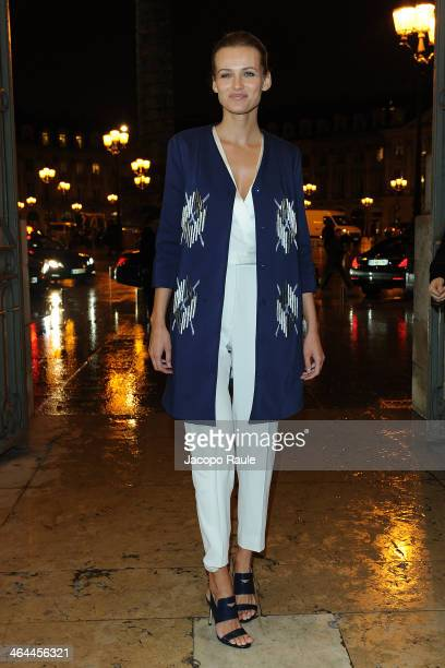 Edita Vilkeviciute attends the Viktor&Rolf show as part of Paris Fashion Week Haute Couture Spring/Summer 2014> on January 22, 2014 in Paris, France.