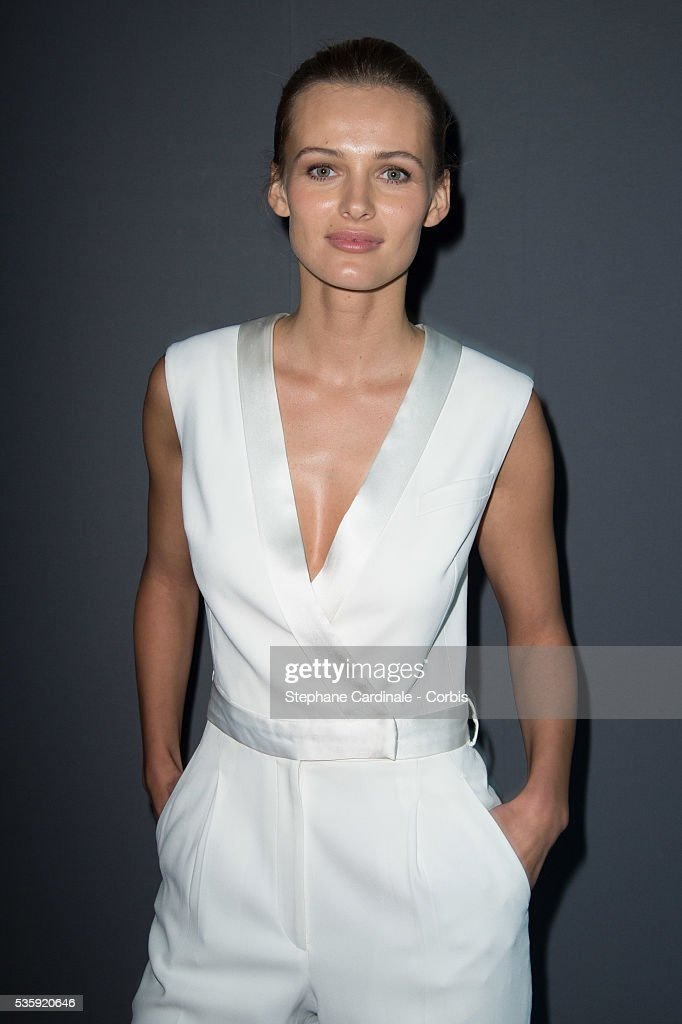 Edita Vilkeviciute attends the Viktor&Rolf show as part of Paris Fashion Week Haute Couture Spring/Summer 2014, in Paris.