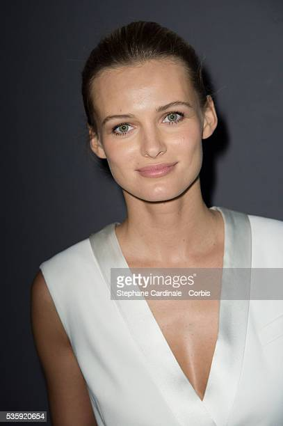Edita Vilkeviciute attends the ViktorRolf show as part of Paris Fashion Week Haute Couture Spring/Summer 2014 in Paris