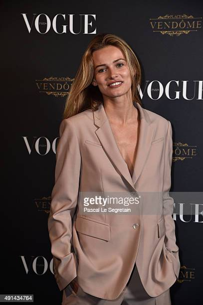 Edita Vilkeviciute attends the Vogue 95th Anniversary Party on October 3 2015 in Paris France