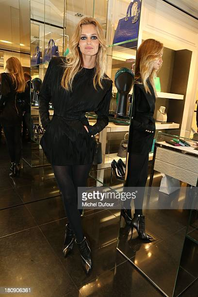 Edita Vilkeviciute attends the Vogue Fashion Night In Paris at Dior rue Royale on September 17 2013 in Paris France