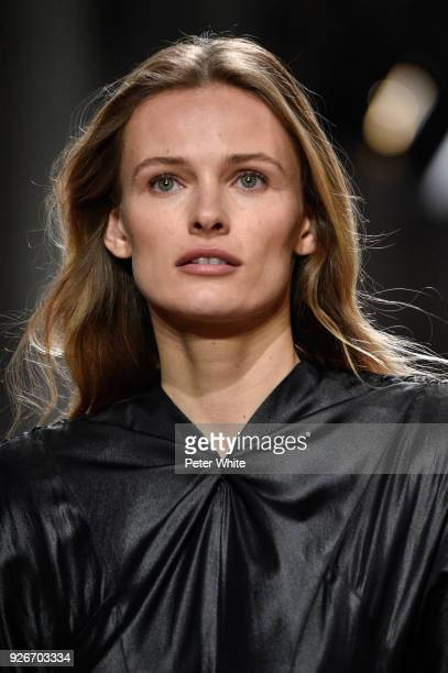 Edita Vilkeviciute walks the runway during the Isabel Marant show as part of the Paris Fashion Week Womenswear Fall/Winter 2018/2019 on March 1 2018...