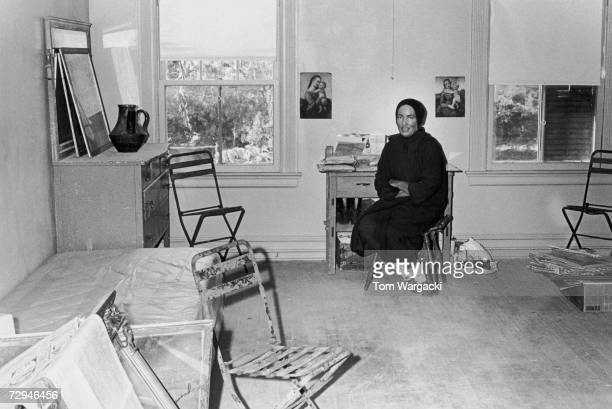 Edith Bouvier Beale a cousin of Jacqueline Kennedy Onassis at home in Grey Gardens a rundown mansion in East Hampton New York circa 1975