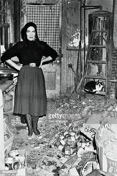 Edith Bouvier Beale at her home 'Grey Gardens' on January 8 1972 in New York United States
